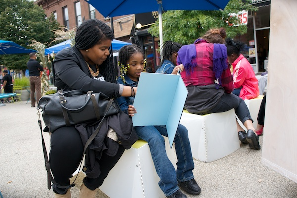 Creating a reading room in Clinton Hill, Brooklyn