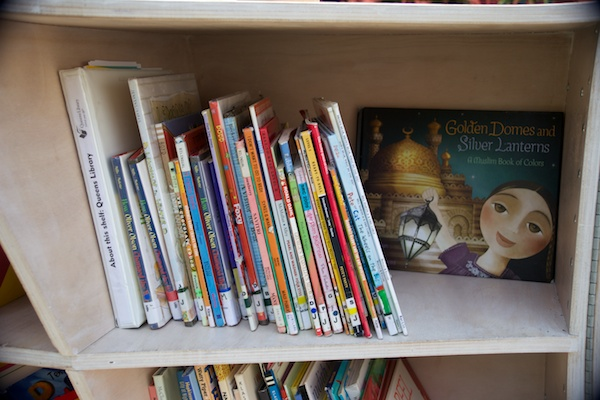 A shelf curated by our partner Queens Library.