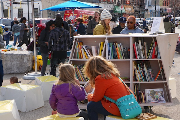 See more photos of Uni reading room, Putnam Triangle Plaza, Clinton Hill, Brooklyn. Apr 25, 2014.