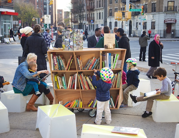 The Uni Portable Reading Room in New York City, 2014