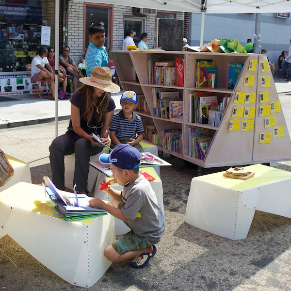 The Uni portable reading room at Diversity Plaza July 11, 2015.