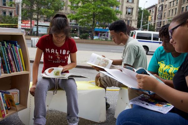 Uni reading room at West Harlem Play Street, July 7, 2015.