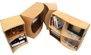 This year, seven reading room kits built for libraries in other US cities and abroad.