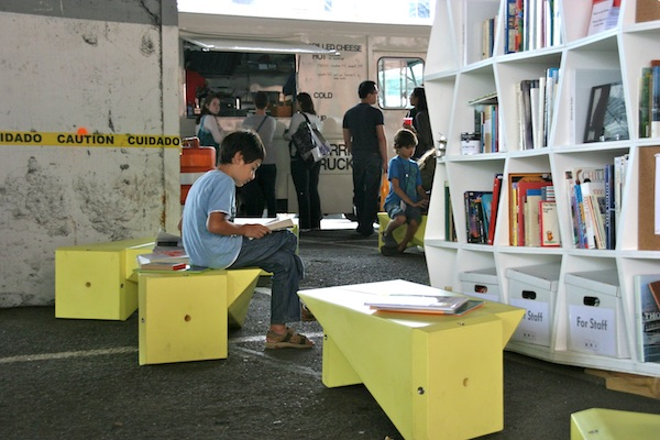 The Uni portable reading room for NYC launched on the morning of Sept. 11, 2011.