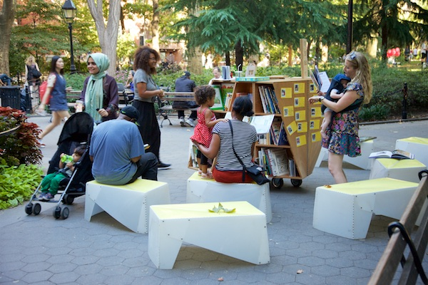 Uni open-air reading room to return to Washington Square Park in 2018