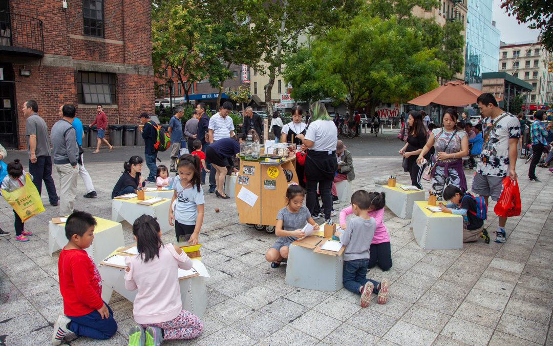 An hands-on exhibit about urban nature in NYC Chinatown