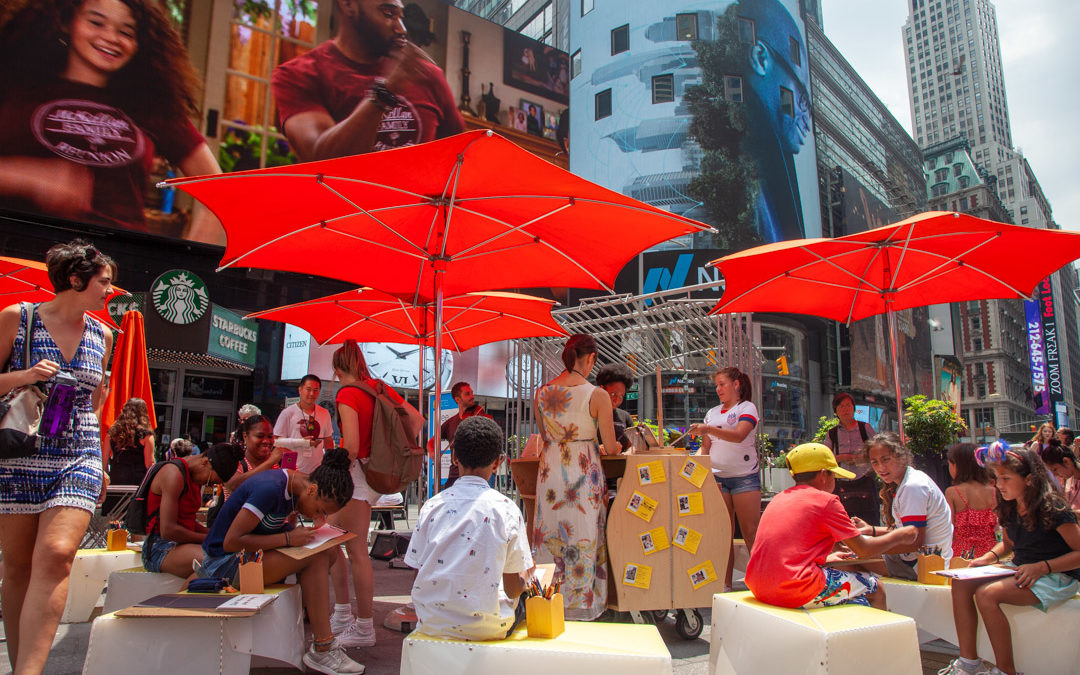 Creating a place to DRAW together in Times Square